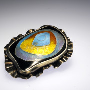 Enameled Brooch