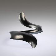 Oxidized Anticlastic Wrap Bracelet