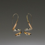 Gold Plated Ribbon Earrings